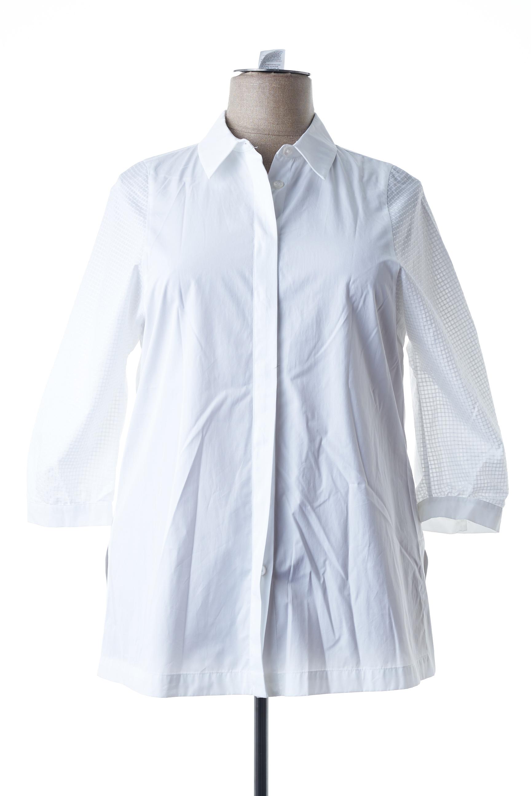 Blouse manches longues femme Marina Rinaldi blanc taille : 48 157 FR (FR)