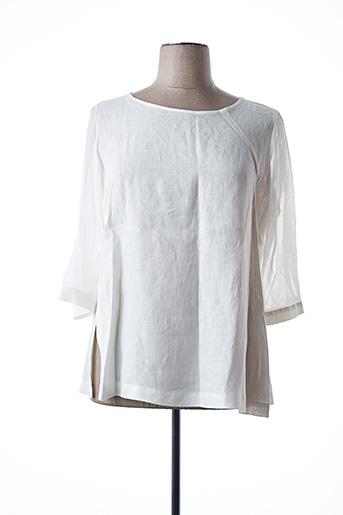 Blouse manches longues blanc MARINA RINALDI pour femme