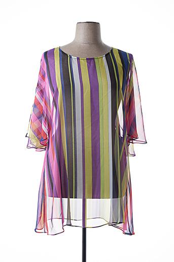 Tunique manches longues violet MARINA RINALDI pour femme