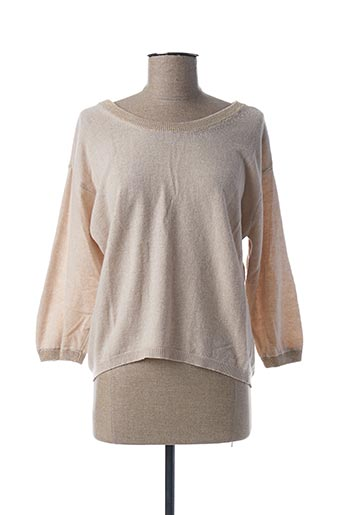 Pull col rond beige B.YU pour femme