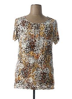 T-shirt manches courtes beige GRIFFON pour femme