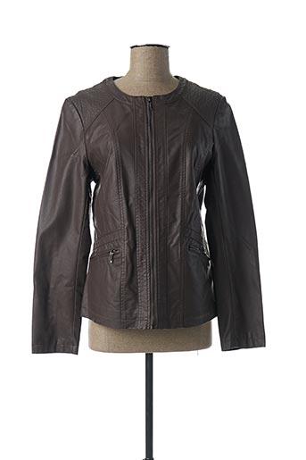 Veste simili cuir marron DIANE LAURY pour femme