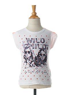 T-shirt manches courtes orange 3 POMMES pour fille