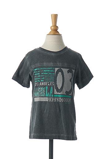 T-shirt manches courtes gris 3 POMMES pour garçon