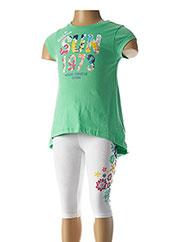Top/pantalon vert 3 POMMES pour fille seconde vue