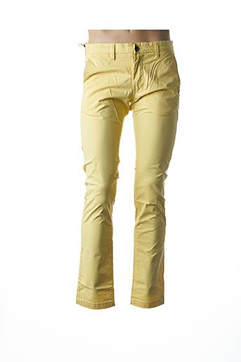 Pantalon casual jaune TEDDY SMITH pour homme