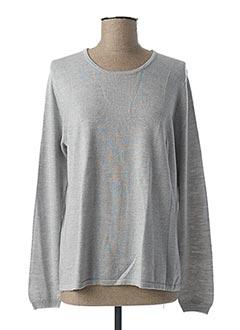Pull col rond gris ESCORPION pour femme