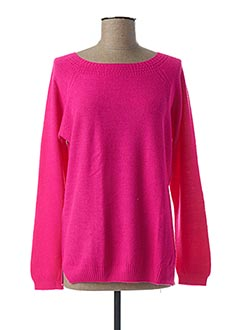 Pull col rond rose ESCORPION pour femme