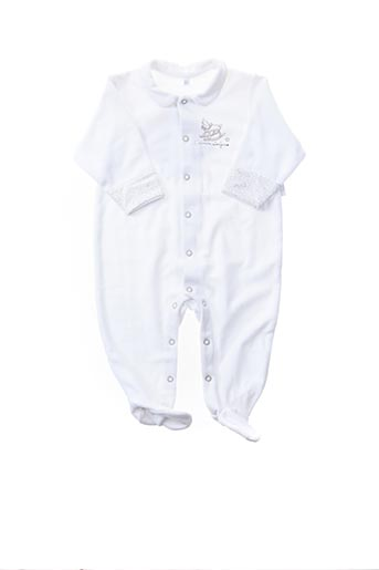 Pyjama blanc BEBE CHOCOLAT pour fille