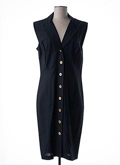 Robe mi-longue noir GIGI pour femme