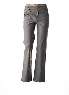 Pantalon casual beige ROSA ROSAM pour femme