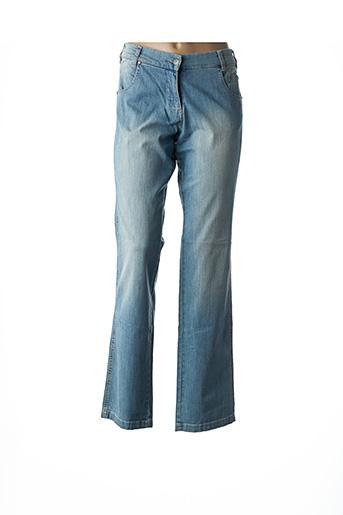Jeans coupe droite bleu BRUNO ANTOGNINI pour femme
