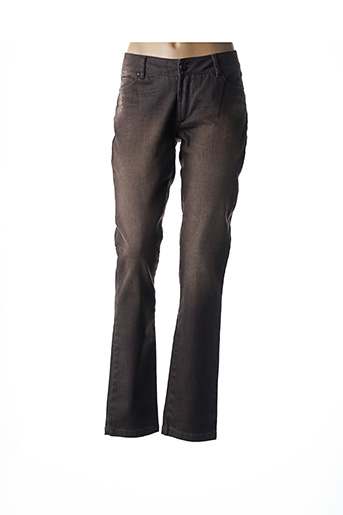 Jeans coupe slim marron I.CODE (By IKKS) pour femme