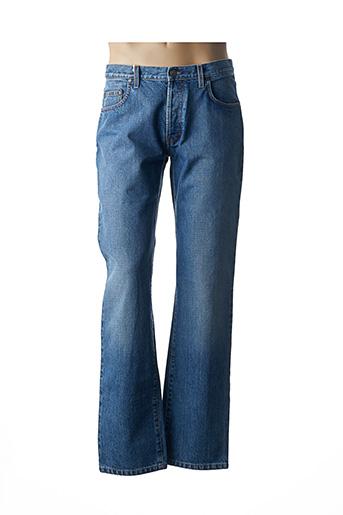 OBER Jeans Jeans coupe droite de couleur bleu en soldes pas cher 1455166 bleu00 Modz