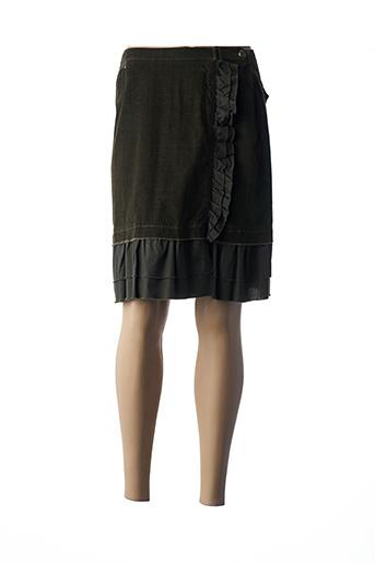 Jupe mi-longue vert BLEU DE SYM pour femme