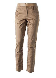 Pantalon casual beige VILA pour femme