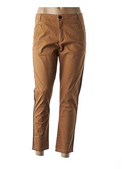 Pantalon casual marron VILA pour femme