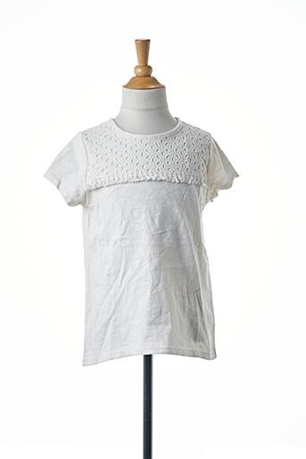 T-shirt manches courtes blanc NAME IT pour fille