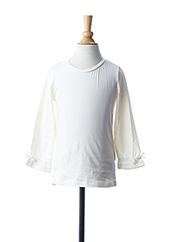 T-shirt manches longues blanc NAME IT pour fille seconde vue