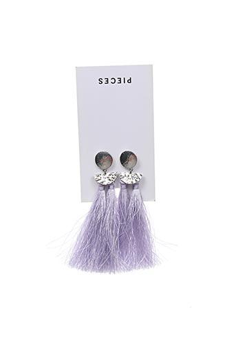 Boucles d'oreilles violet PIECES pour femme