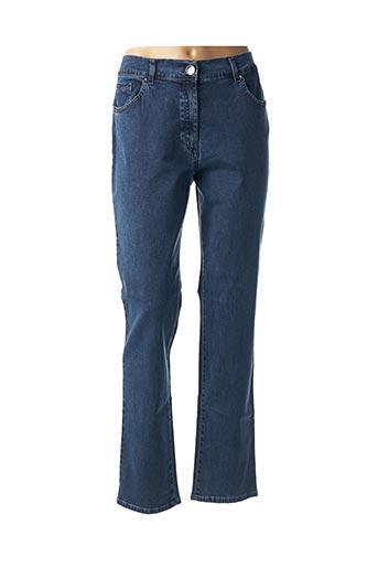Jeans coupe droite bleu EAST DRIVE pour femme