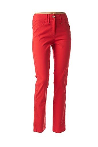 Pantalon casual rouge PAUSE CAFE pour femme