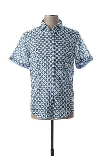 Chemise manches courtes bleu RECYCLED ART WORLD pour homme