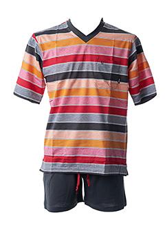 Pyjashort rouge HAJO pour homme