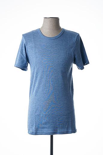 T-shirt manches courtes bleu ACHEL pour homme
