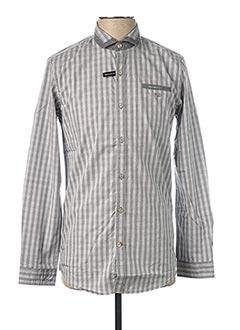 Chemise manches longues gris DELAHAYE pour homme