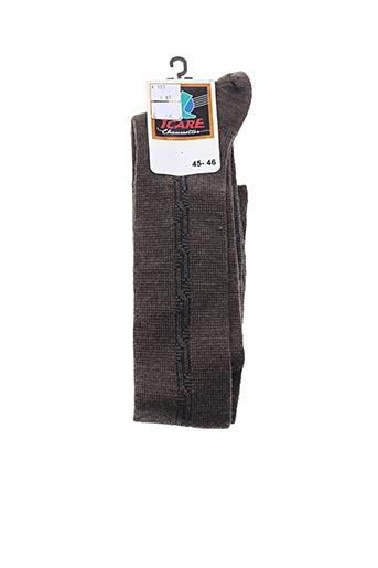 Chaussettes marron ICARE pour homme