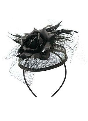 Accessoire pour cheveux noir CRAZY HAT pour femme
