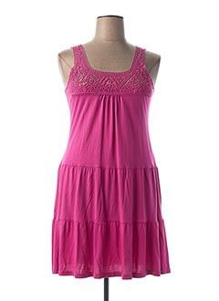 Robe courte rose CANAT pour femme