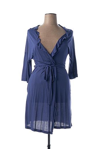 Robe de chambre bleu TECCIA pour femme