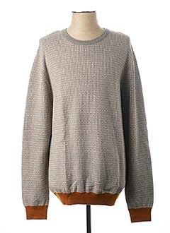 Pull col rond gris HARRIS WILSON pour homme