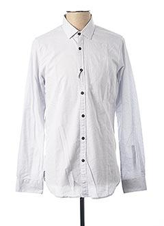 Chemise manches longues blanc DSTREZZED pour homme