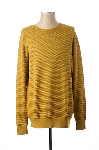 Pull col rond jaune DSTREZZED pour homme