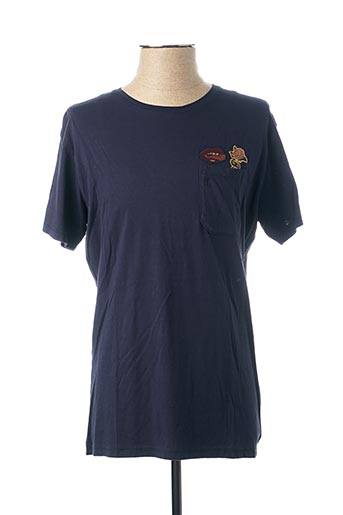T-shirt manches courtes bleu PEARLY KING pour homme