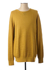 Pull col rond jaune DSTREZZED pour homme seconde vue