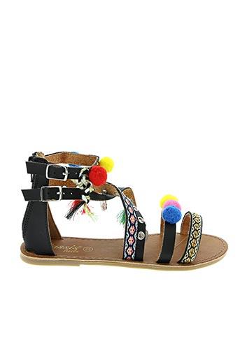 Sandales/Nu pieds noir CASSIS COTE D'AZUR pour fille