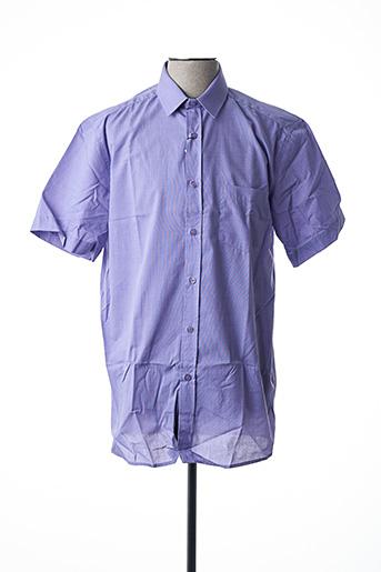 Chemise manches courtes violet LOUIS VICTOR pour homme
