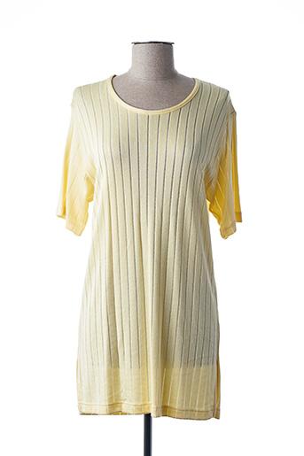 Tunique manches courtes jaune FINETTE pour femme