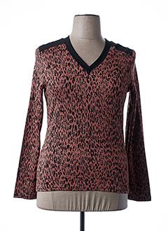 T-shirt manches longues rose ANNE KELLY pour femme