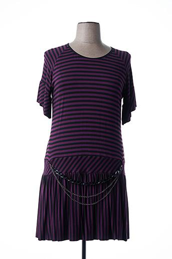 Robe mi-longue violet COSTURA 40 pour femme