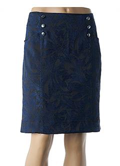 Jupe mi-longue bleu AVENTURES DES TOILES pour femme