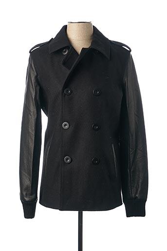 Manteau court noir DEEPEND pour homme