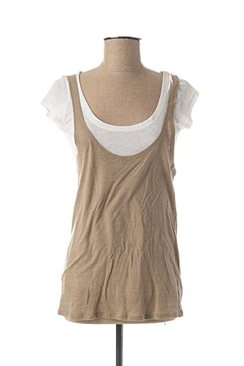 T-shirt manches courtes beige AXARA pour femme