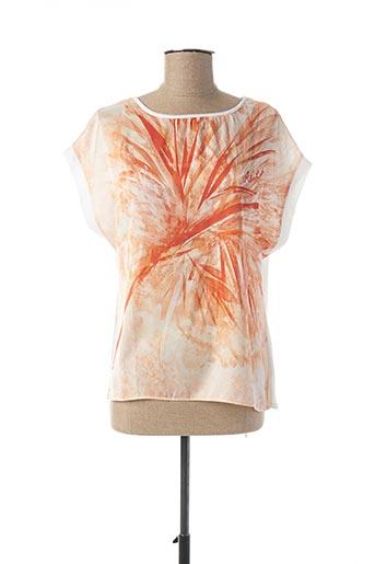 T-shirt manches courtes orange ALAN RED pour femme
