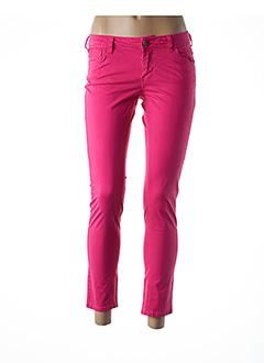Pantalon 7/8 rose TEDDY SMITH pour femme