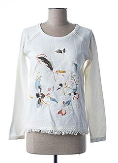 Sweat-shirt blanc PEPE JEANS pour fille